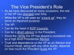 the vice president s role