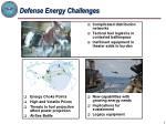 defense energy challenges