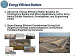 energy efficient shelters