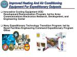 improved heating and air conditioning equipment for expeditionary outposts