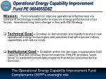 operational energy capability improvement fund pe 0604055d8z