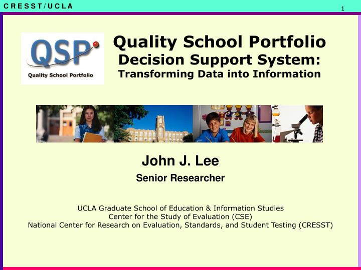 quality school portfolio decision support system transforming data into information n.