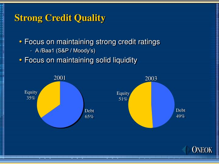 Strong Credit Quality
