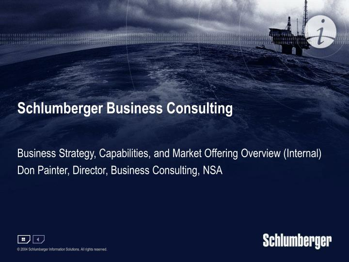 schlumberger business consulting n.