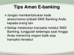 tips aman e banking