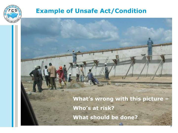 unsafe act and unsafe condition pdf