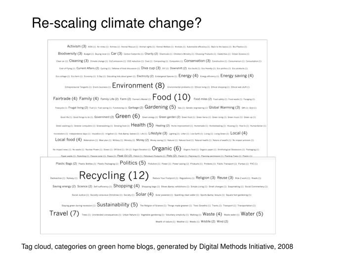 Re-scaling climate change?