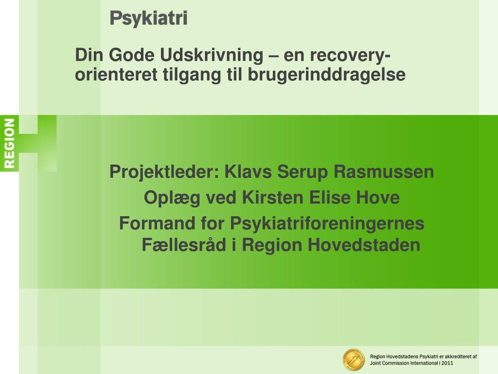 recovery orienteret tilgang