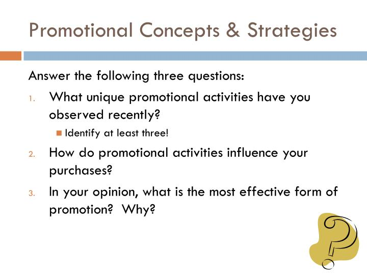 promotional concepts strategies n.