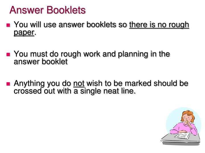 Answer Booklets