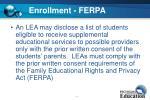 enrollment ferpa