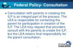 federal policy consultation