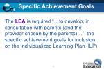 specific achievement goals