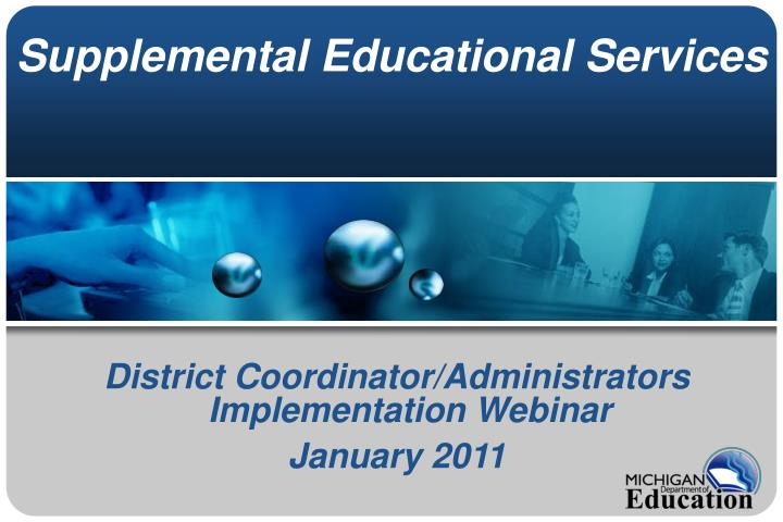 supplemental educational services n.