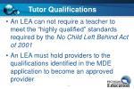 tutor qualifications