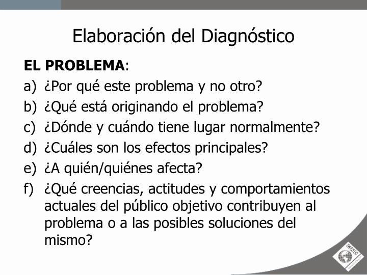 Elaboración del Diagnóstico