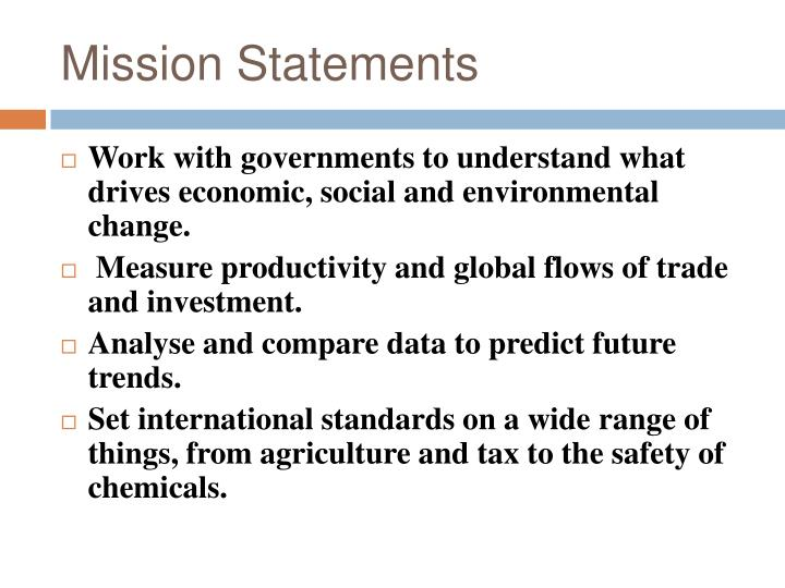 PPT - The Organisation for Economic Co-operation and