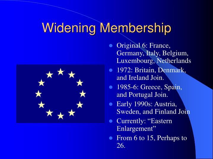 Widening Membership