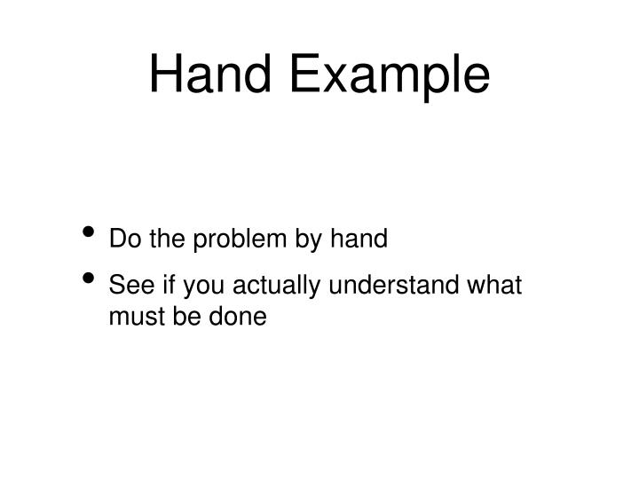 Hand Example