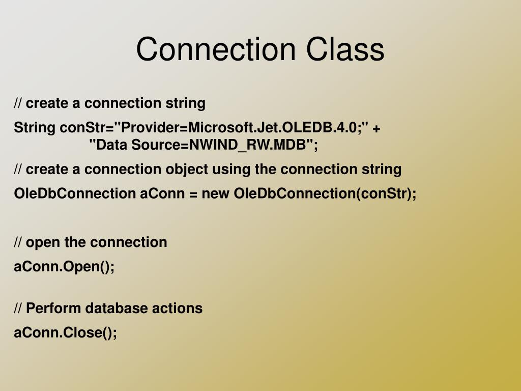 PPT - ODBC, OLE DB, and ADO Introduction PowerPoint