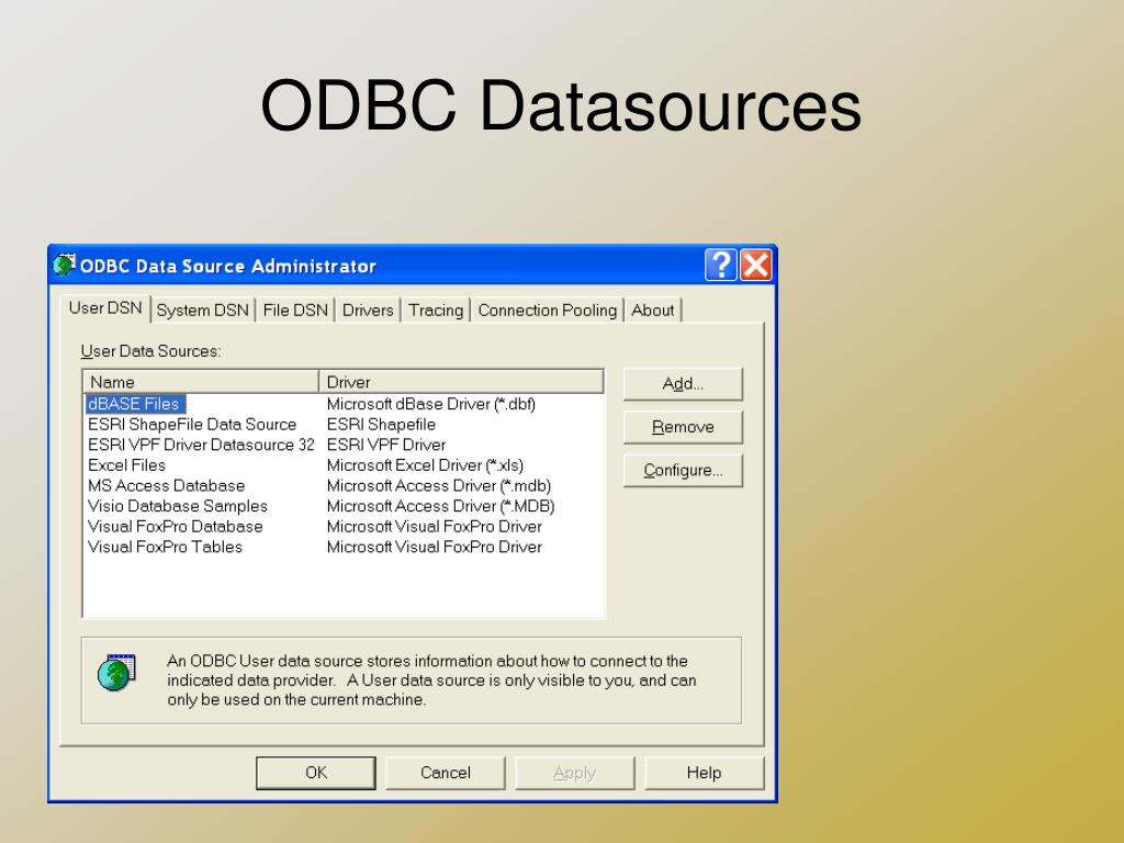 PPT - ODBC, OLE DB, and ADO Introduction PowerPoint Presentation