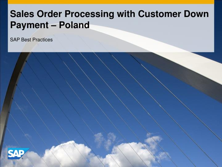 sales order processing with customer down payment poland n.