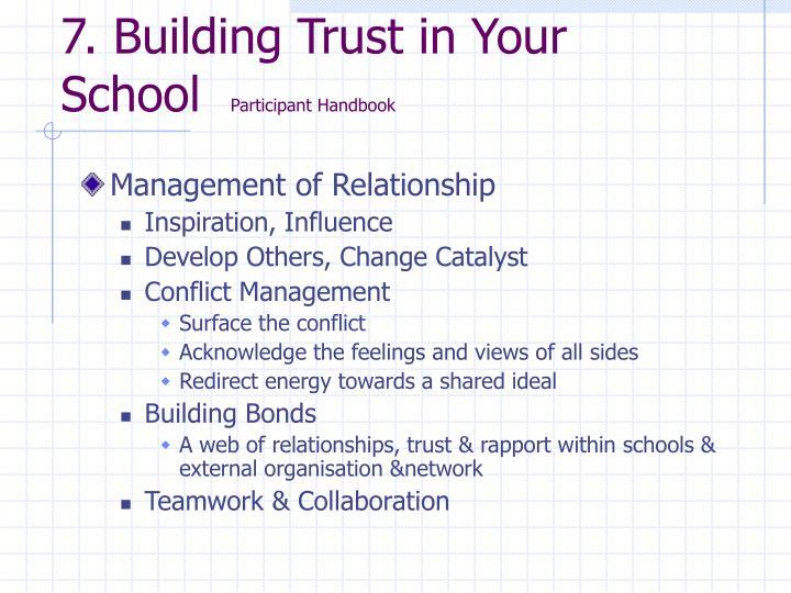 7. Building Trust in Your School