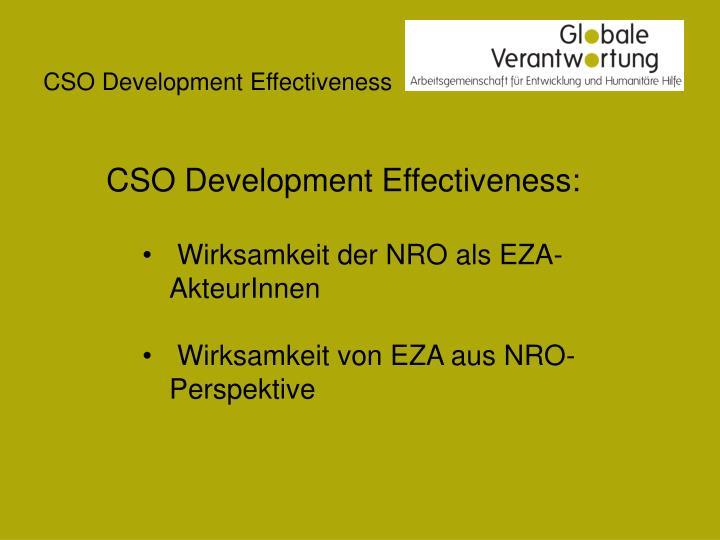 Cso development effectiveness1