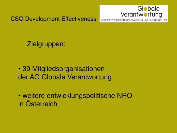 CSO Development Effectiveness