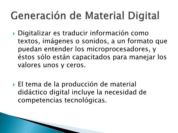 Generación de Material Digital