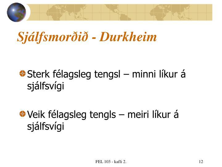 Sjálfsmorðið - Durkheim