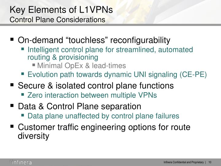 Key Elements of L1VPNs