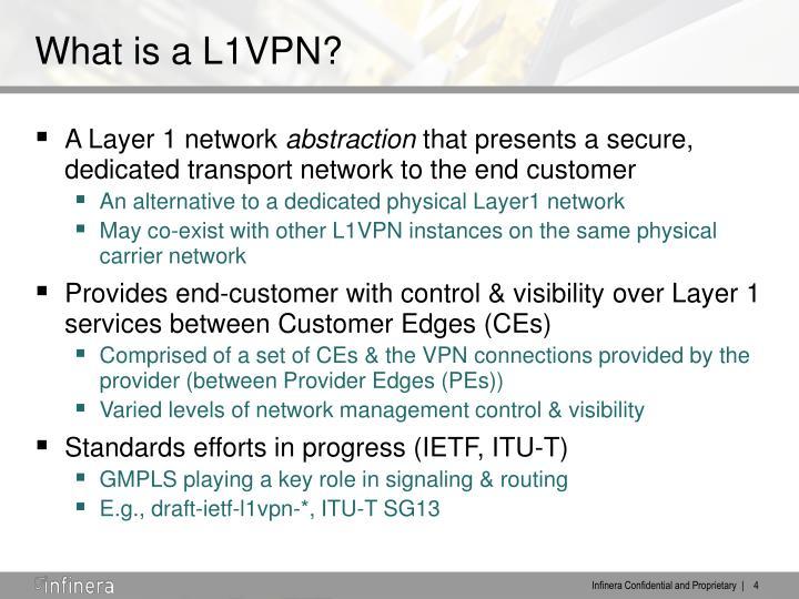What is a L1VPN?