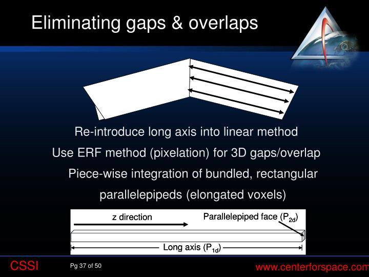 Eliminating gaps & overlaps