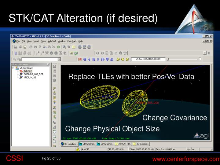 STK/CAT Alteration (if desired)