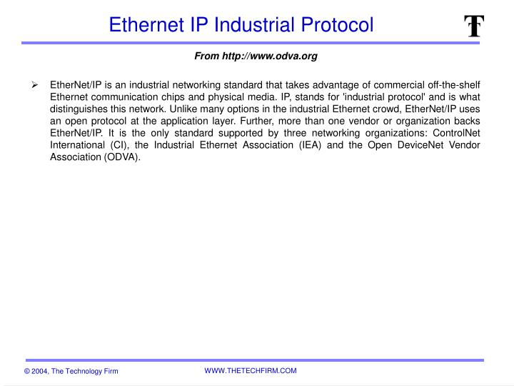 PPT - Ethernet IP Industrial Protocol PowerPoint Presentation - ID