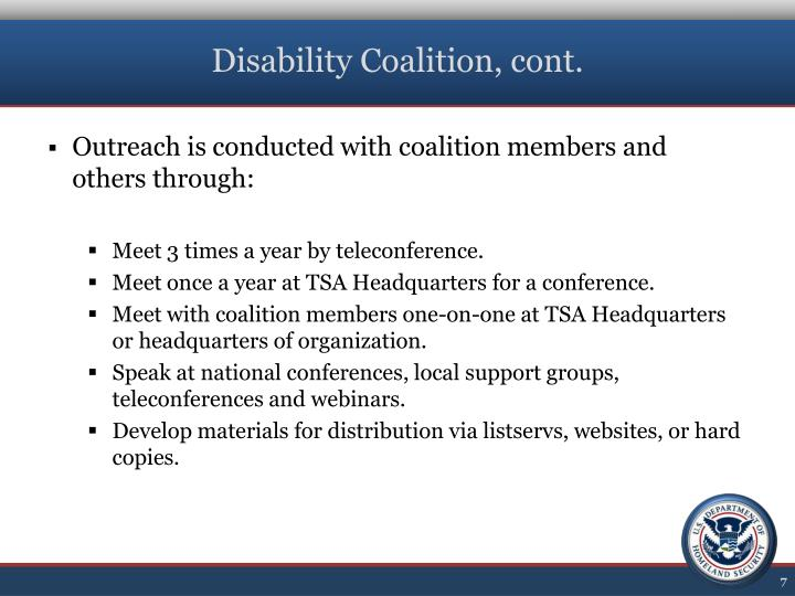 Disability Coalition, cont.