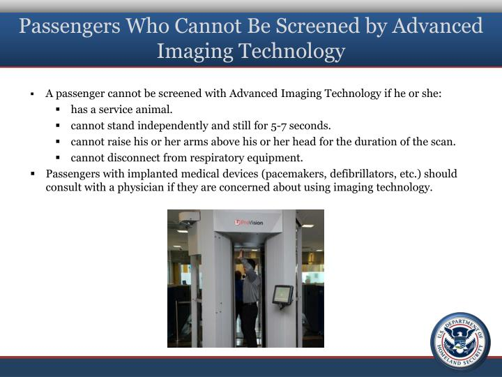 Passengers Who Cannot Be Screened by Advanced Imaging Technology