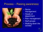 process raising awareness