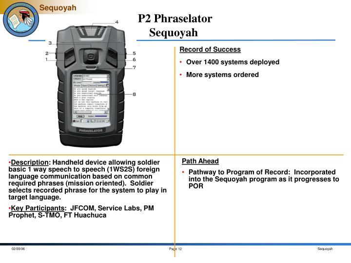 P2 Phraselator