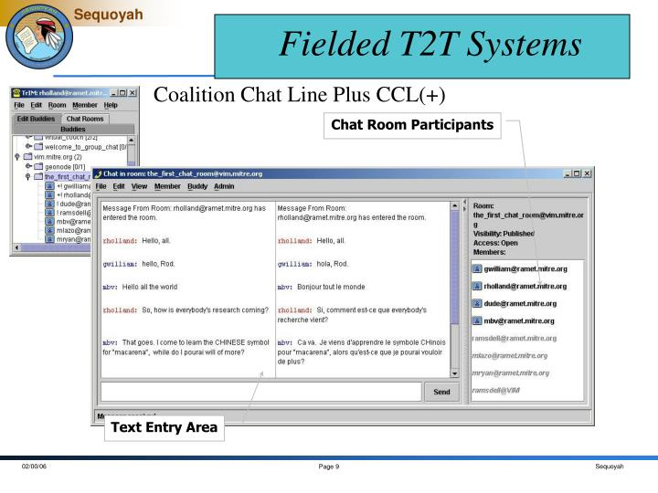 Fielded T2T Systems