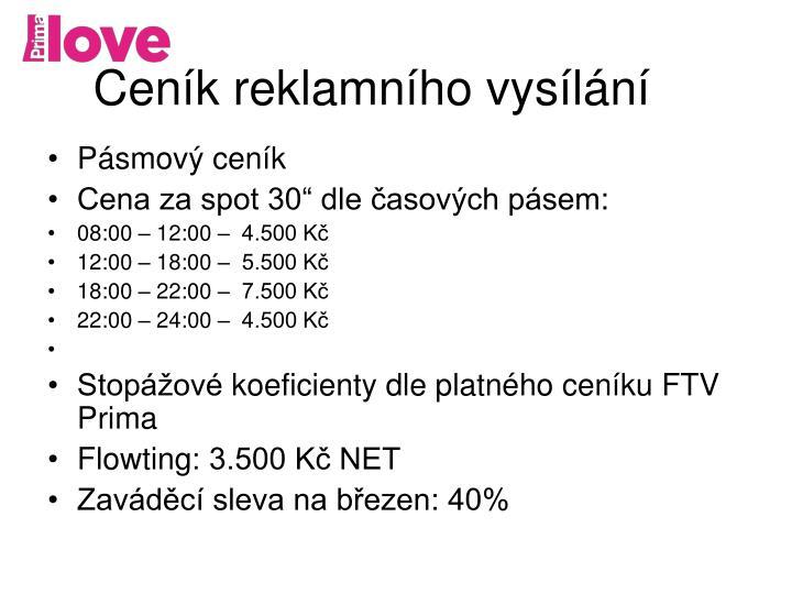 Ceník reklamního vysílání