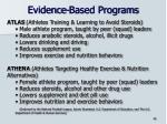 evidence based programs1