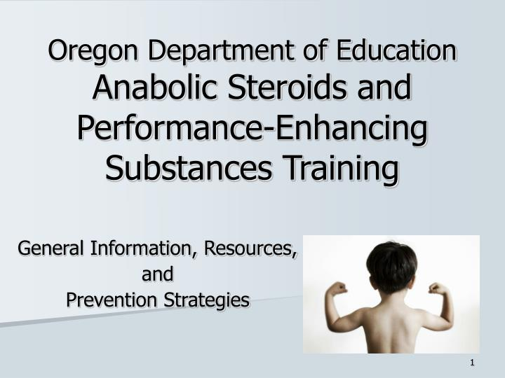 oregon department of education anabolic steroids and performance enhancing substances training n.