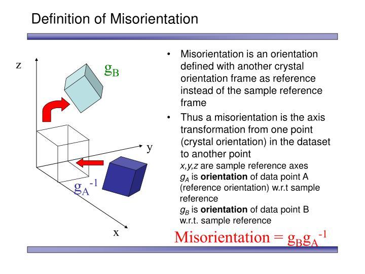 Definition of Misorientation