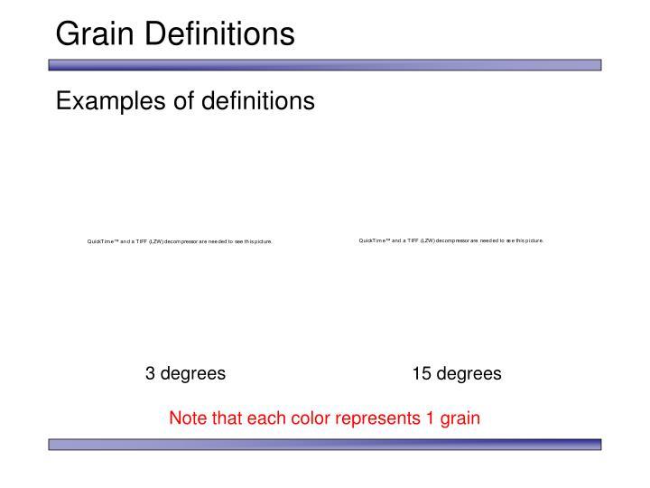 Grain Definitions