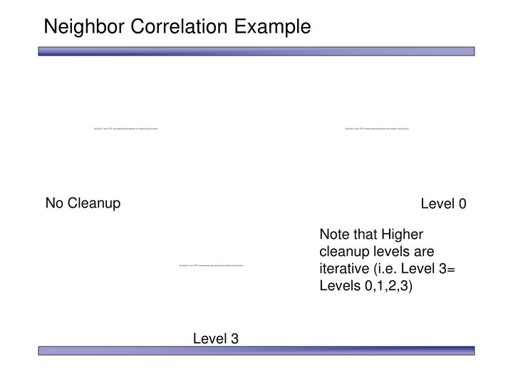 Neighbor Correlation Example