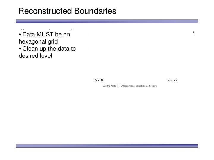 Reconstructed Boundaries