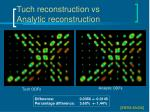 tuch reconstruction vs analytic reconstruction