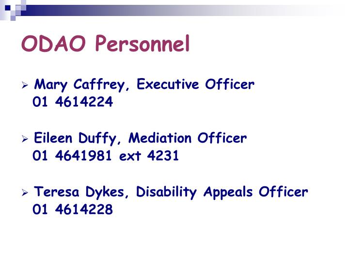 ODAO Personnel